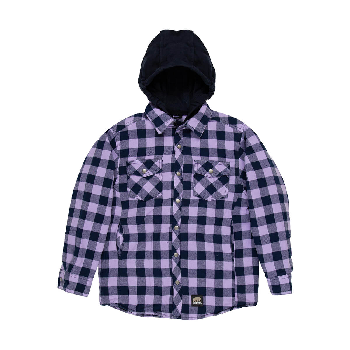Youth Hooded Quilted Flannel