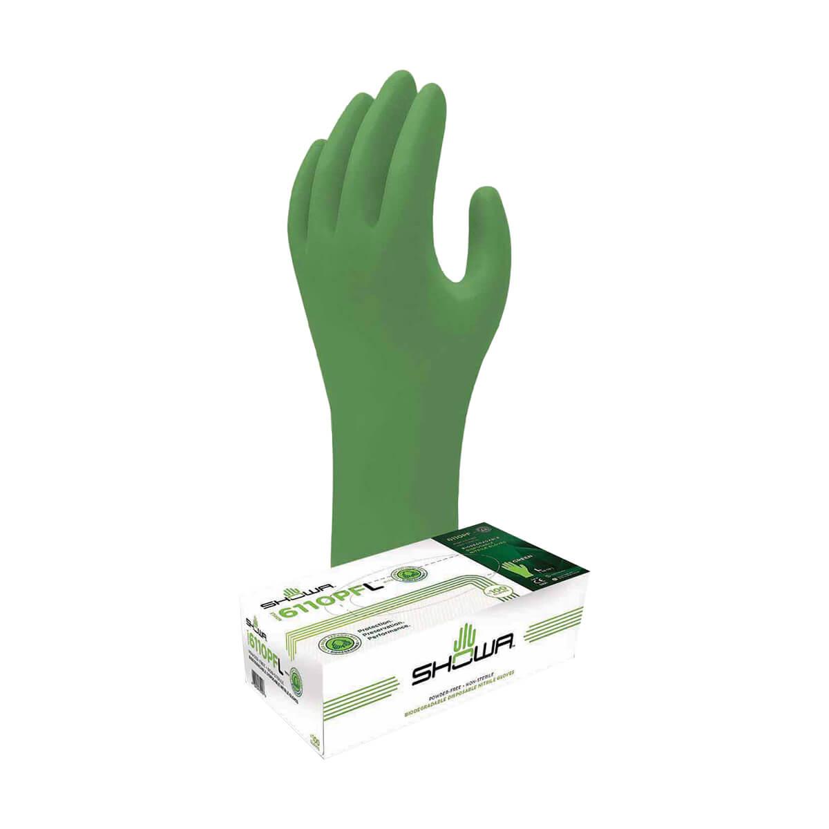 Gloves - Nitrile - Green-Dex Biodegradable - L - 100 Pack
