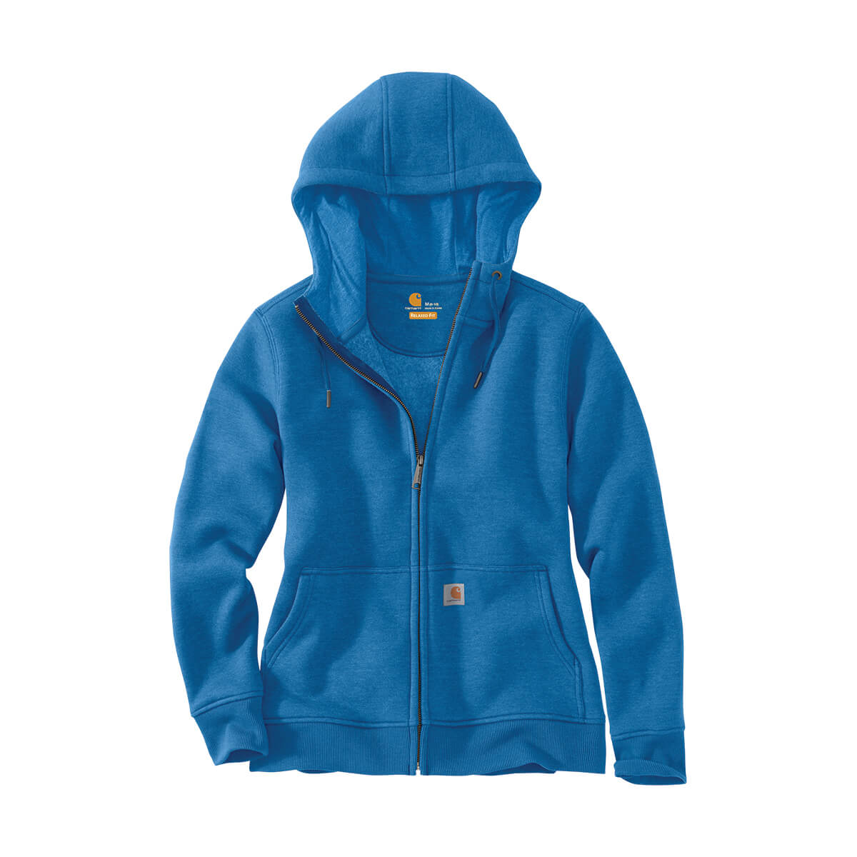 Women's Full Zip Hoodie, Light Blue - XL