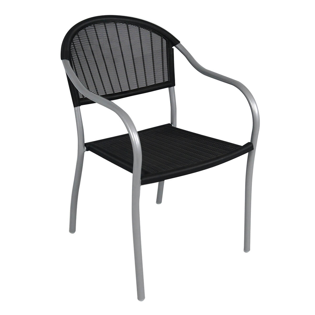 Patio Chair - Black and Silver
