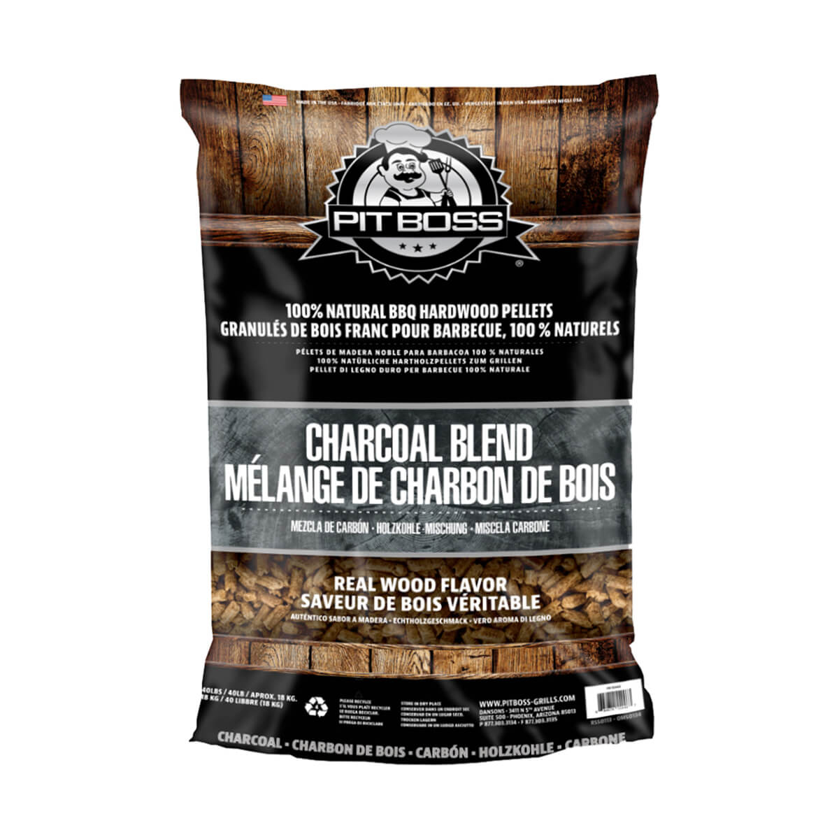 Pit Boss Charcoal Blend - 40 lb