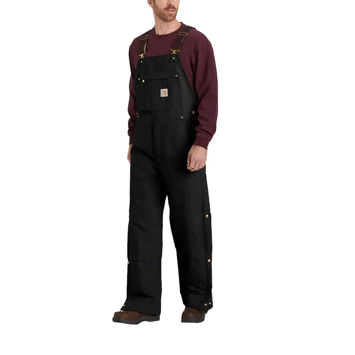 Carhartt Loose Fit Firm Duck Insulated Bib Overall - Black