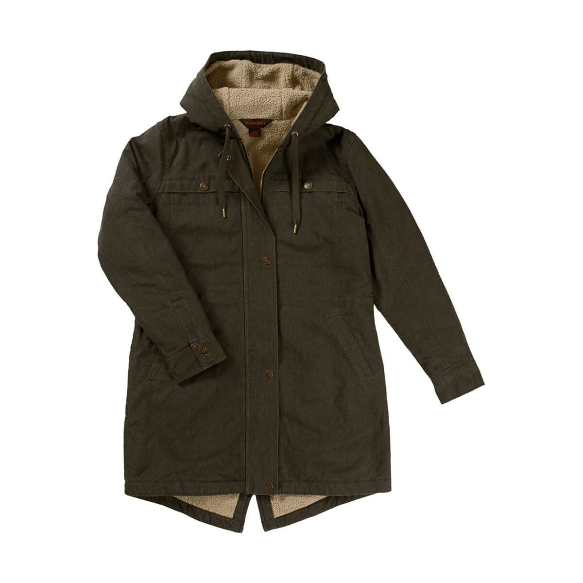 Tough Duck Women's Sherpa Lined Jacket - Olive