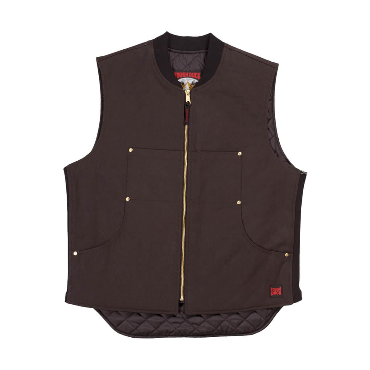 Tough Duck Men's Lined Moto Vest - Dark Brown