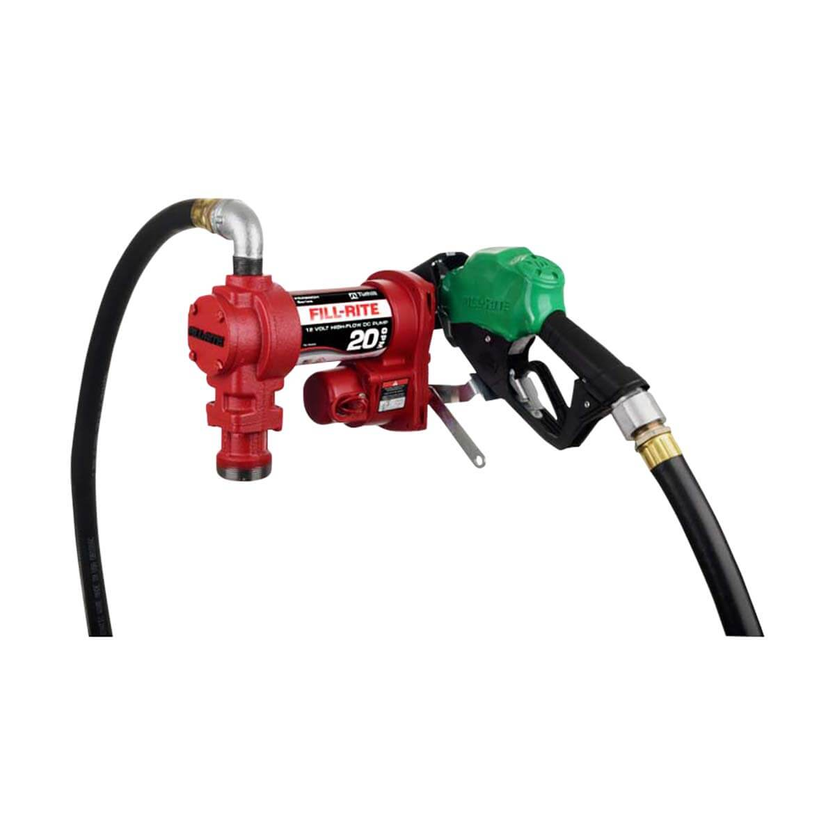 12V DC 20GPM Heavy-Duty Fuel Transfer Pump with Manual Nozzle