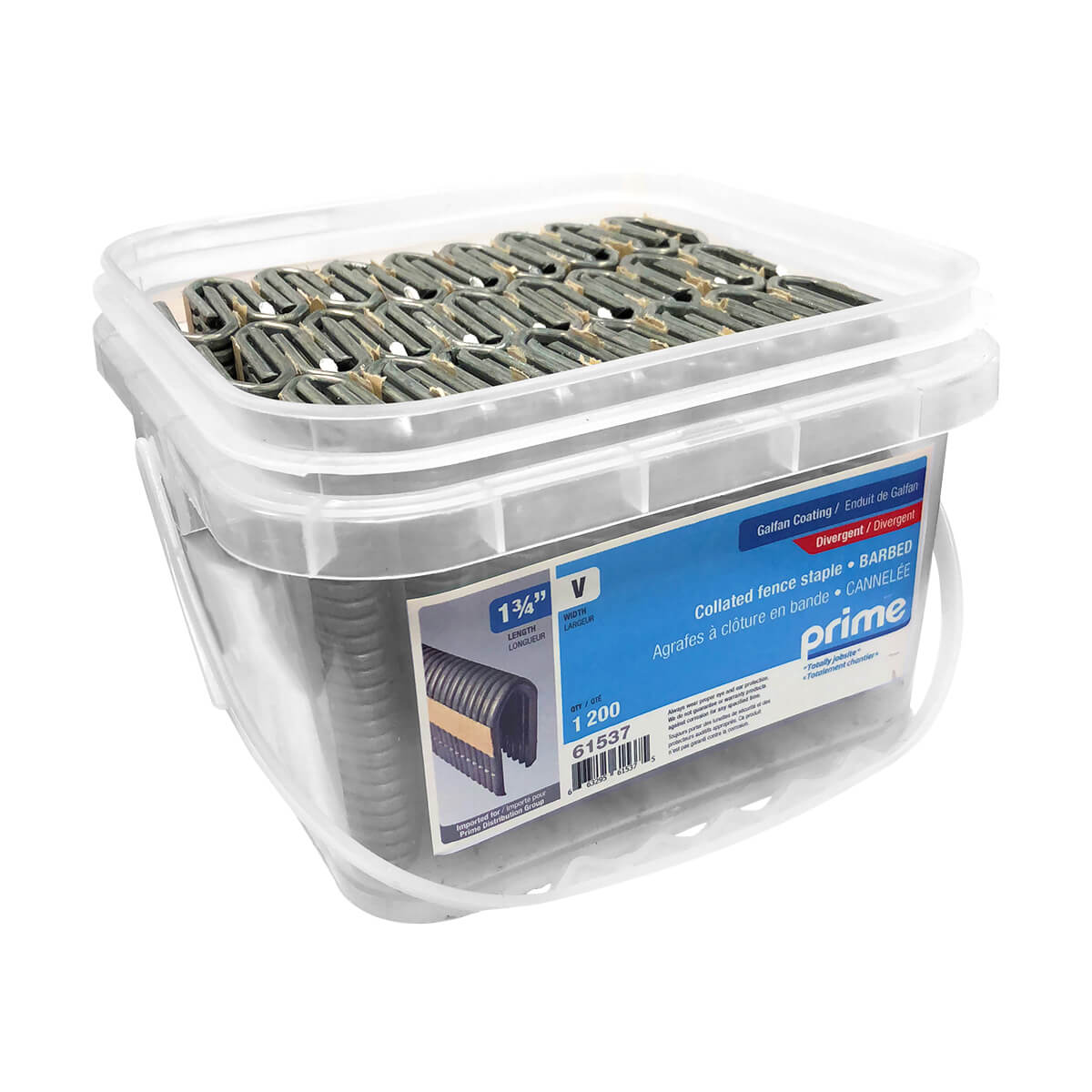 Prime Collated Fencing Staple - 1-3/4-in 9 GA - 1200 pack