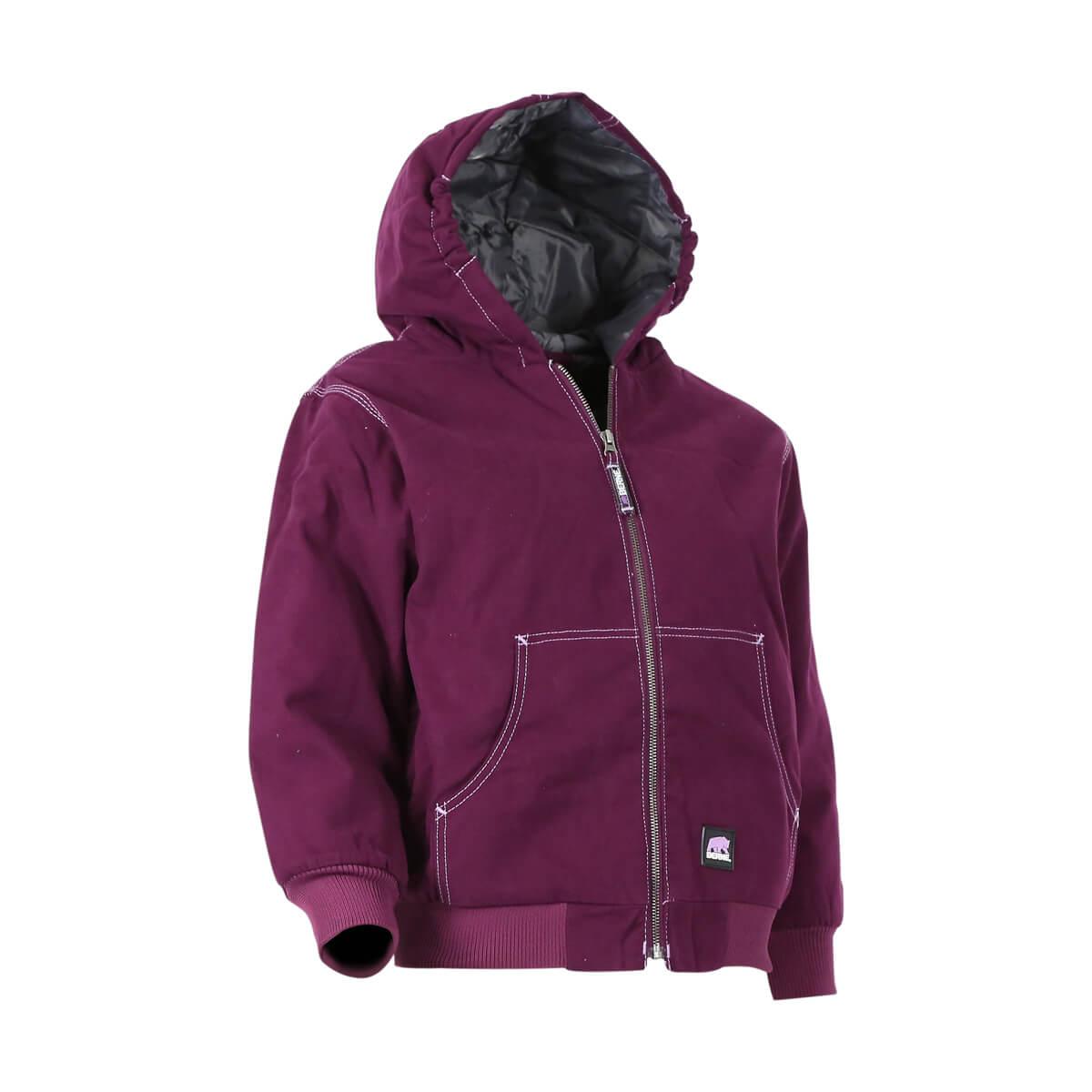 Youth Softstone Hooded Jacket - Plum