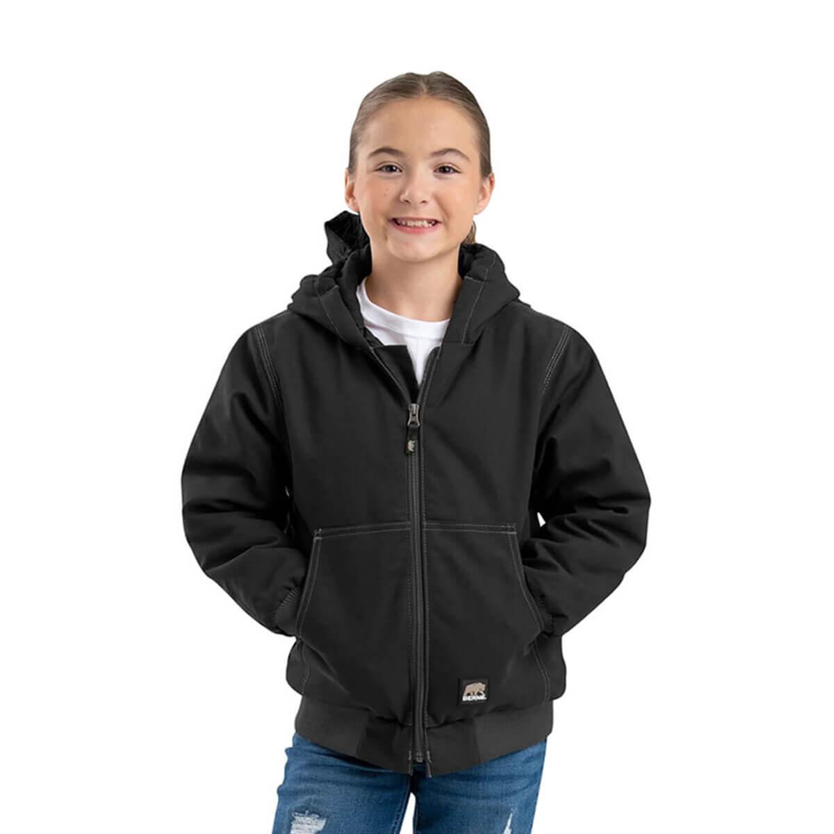 Youth Softstone Hooded Jacket - Black