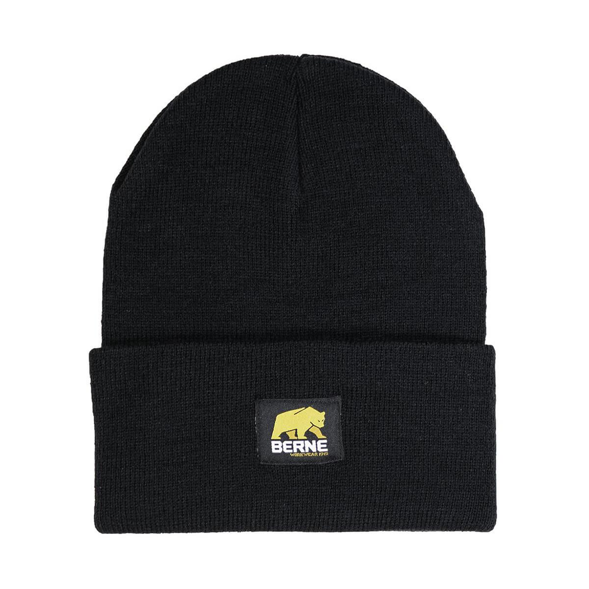 Heritage Knit Cuff Cap - Black