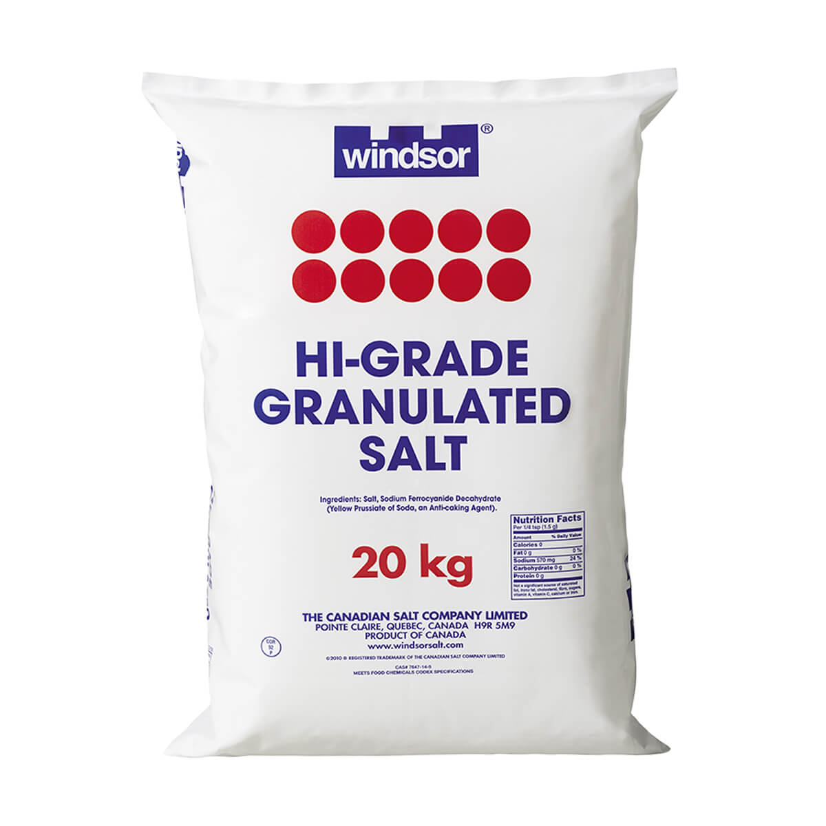 20 kg Hi Grade Salt