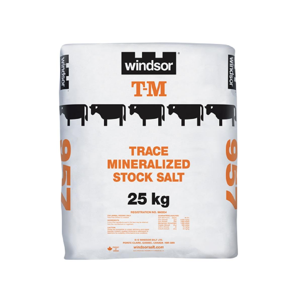 Windsor Trace Mineralized Stock Salt - T.M. - 25 kg - Bag