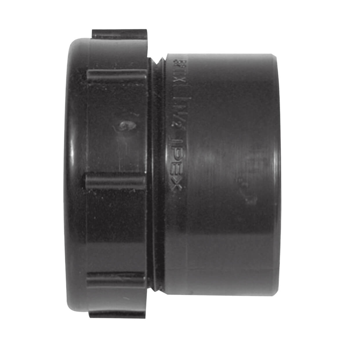 ABS-DWV Male Trap Adapter - Spigot x Plastic Nut - 1-1/2-in