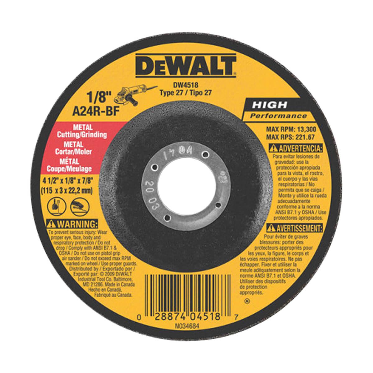 DEWALT Metal Cutting Wheel - DW4518