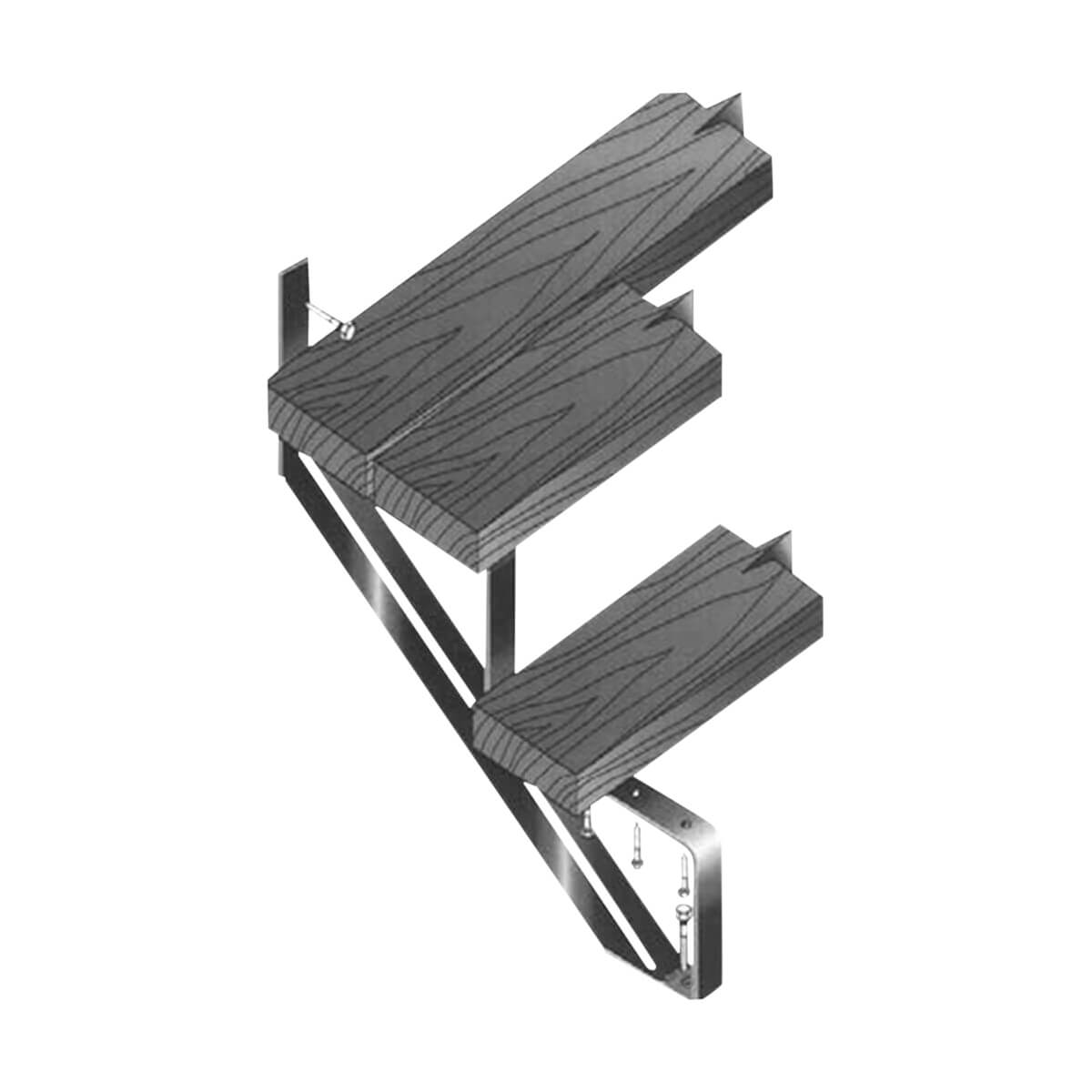 Steel Stair Riser - 2 Steps