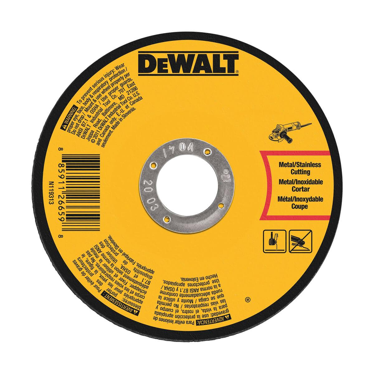 """DEWALT 5"""" X .045"""" X 7/8"""" Thin Cutting Wheel"""