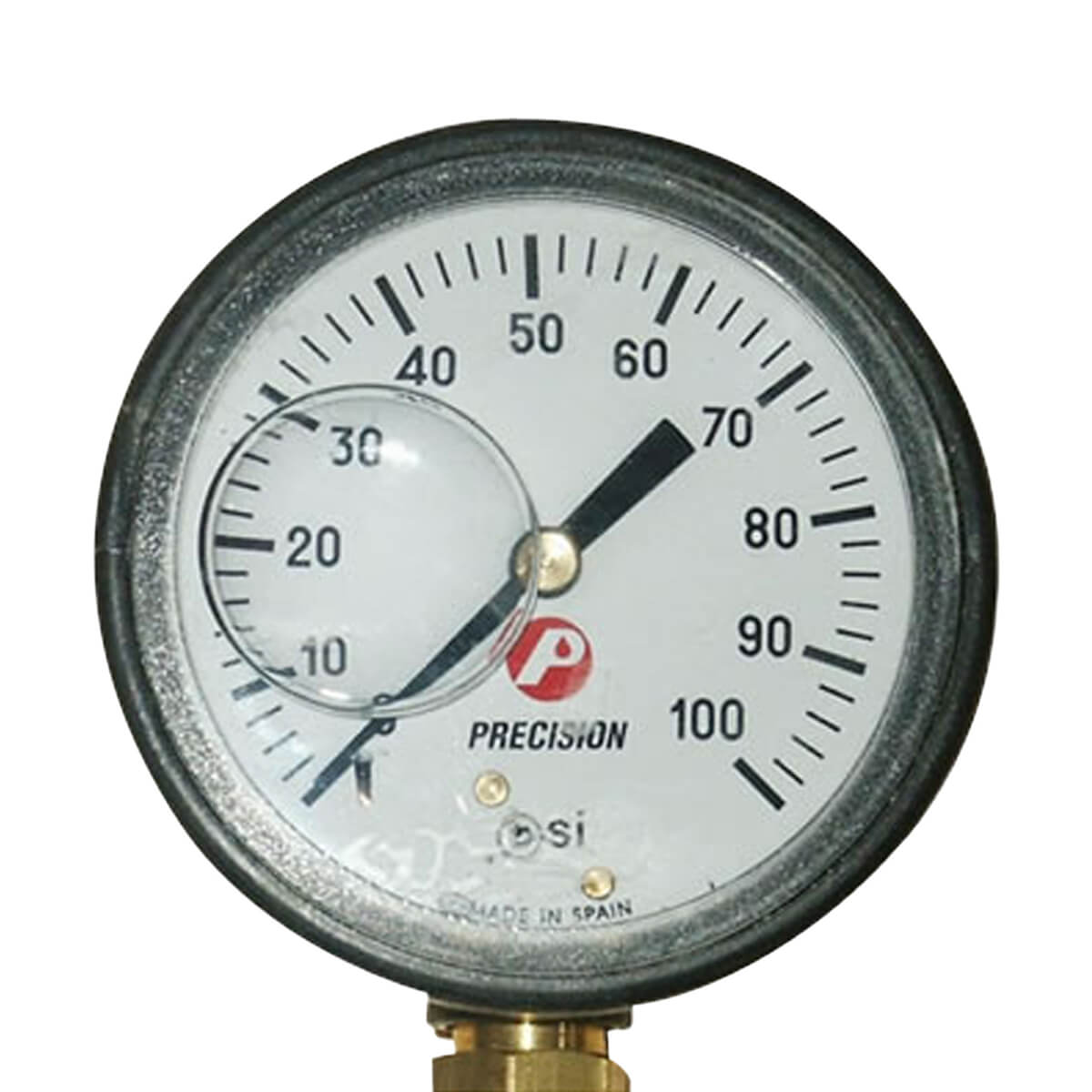 Glycerin Filled Bottom Mount Pressure Gauge 100 PSI
