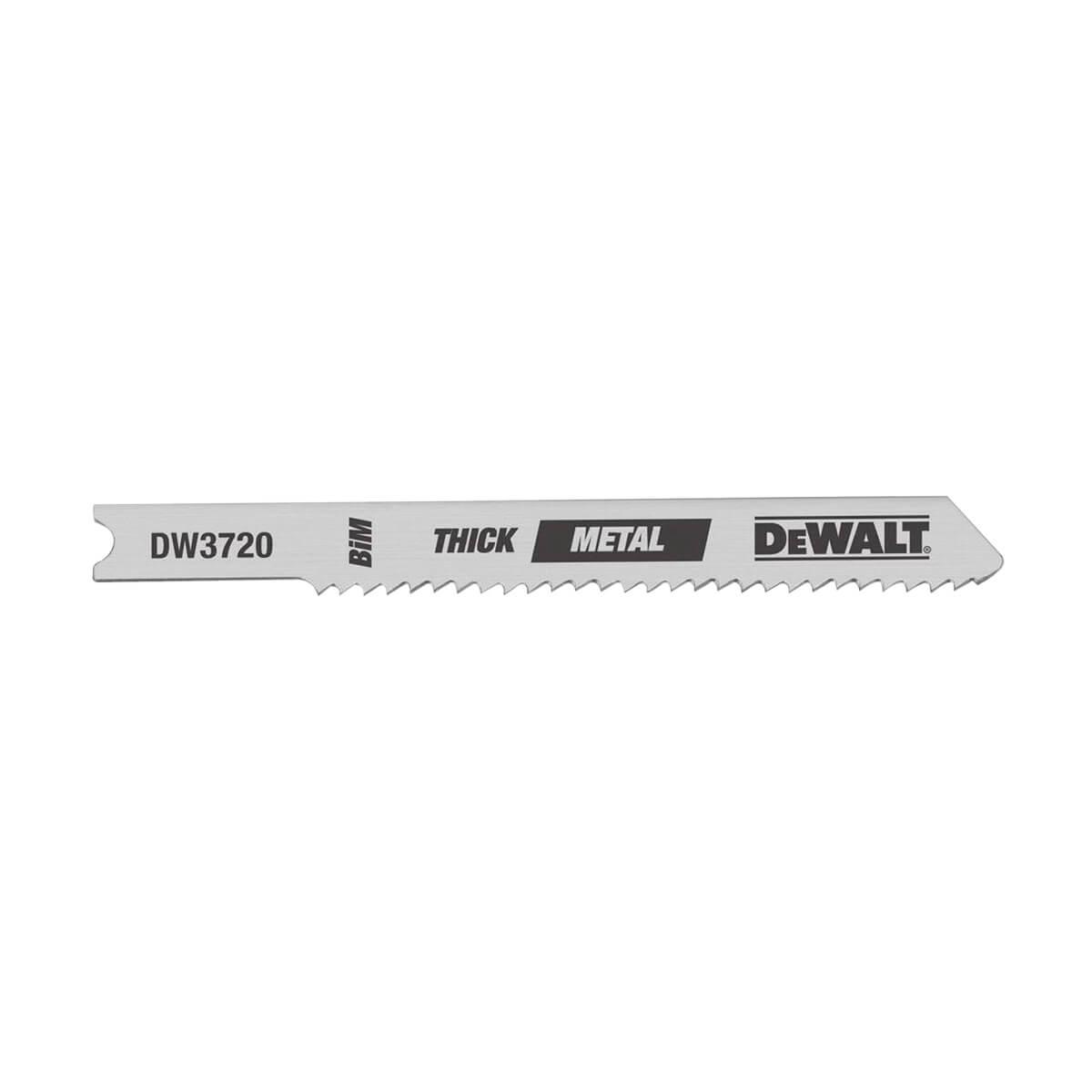"""DEWALT Thin Metal Cut High Speed Steel U-Shank Jig Saw Blade - 3"""" - 24 TPI"""