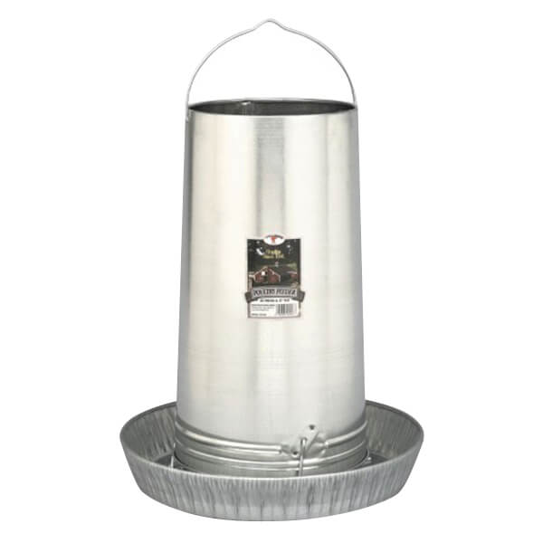 Hanging Poultry Feeders - w/large pan - 40 lb. capacity