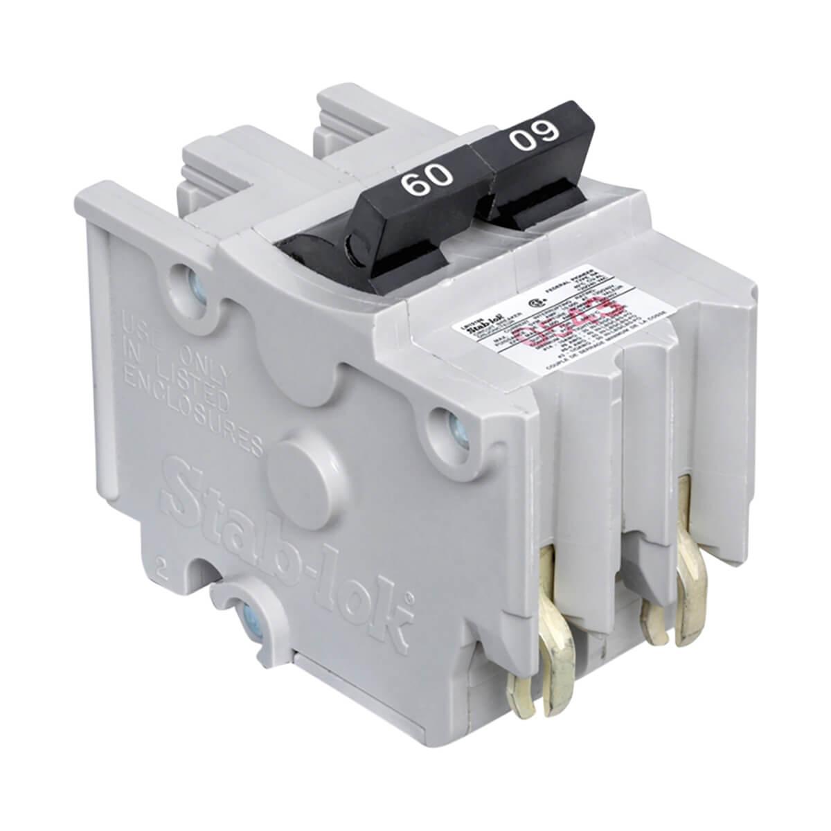 Stab-lok (NA) Double Pole 60 Amp Plug-On Circuit Breaker