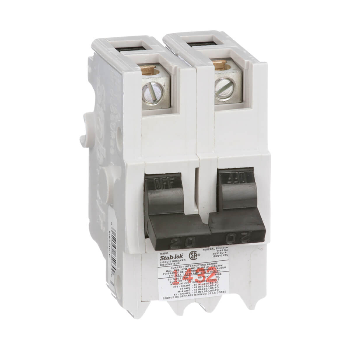 70A 2-Pole Miniature Breaker