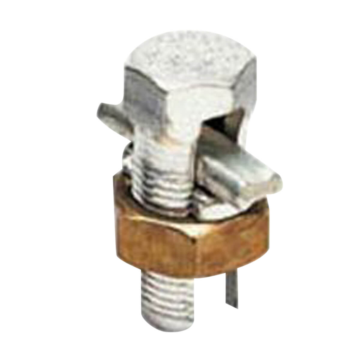 Split Bolt w/Spacer Mechanical Cable Tap, Copper, 4 sol