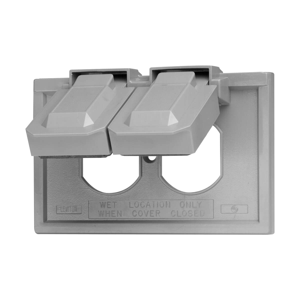 4976-GY 1-Gang Duplex Device Wallplate Cover - Weather-Resistant - Thermoplastic - Device Mount - Horizontal - Gray