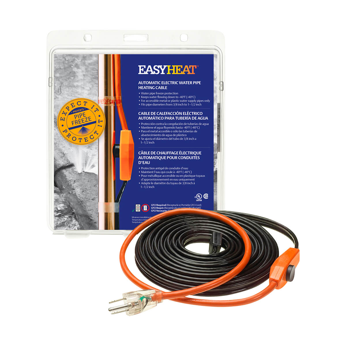 Pipe Heating Cable - 12'