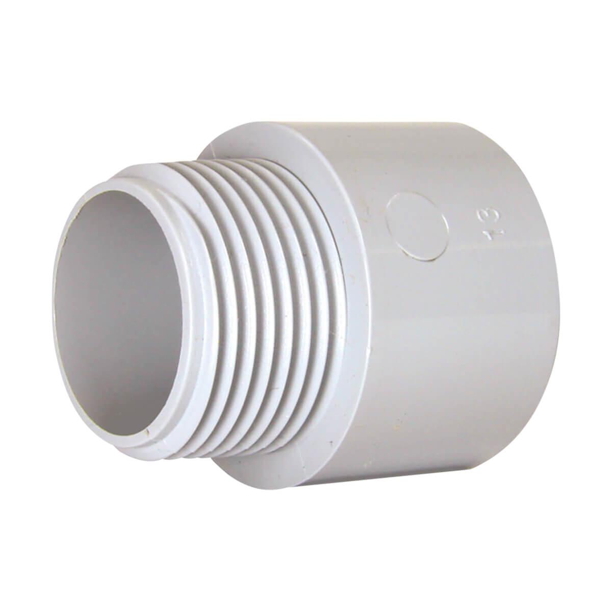 PVC Conduit Terminal Adapter - Hub x MPT (M) - 1-1/4-in