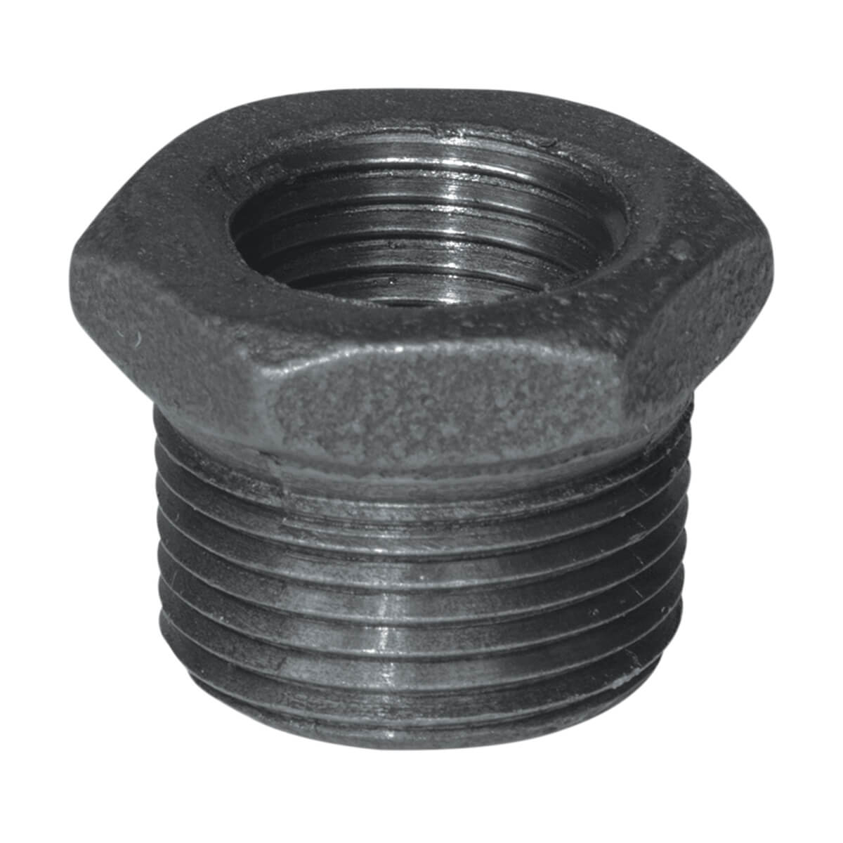 Fitting Black Iron Hex Bushing - 1-in x 1/2-in