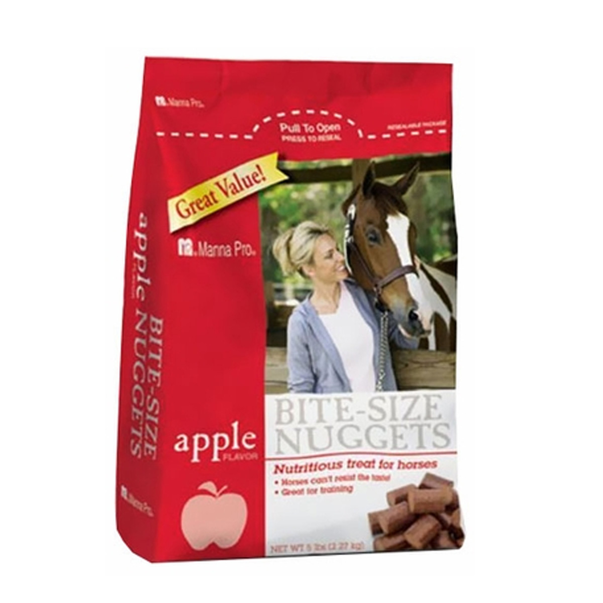 Bite-Sized Apple Nuggets for Horses - Apple 5lb
