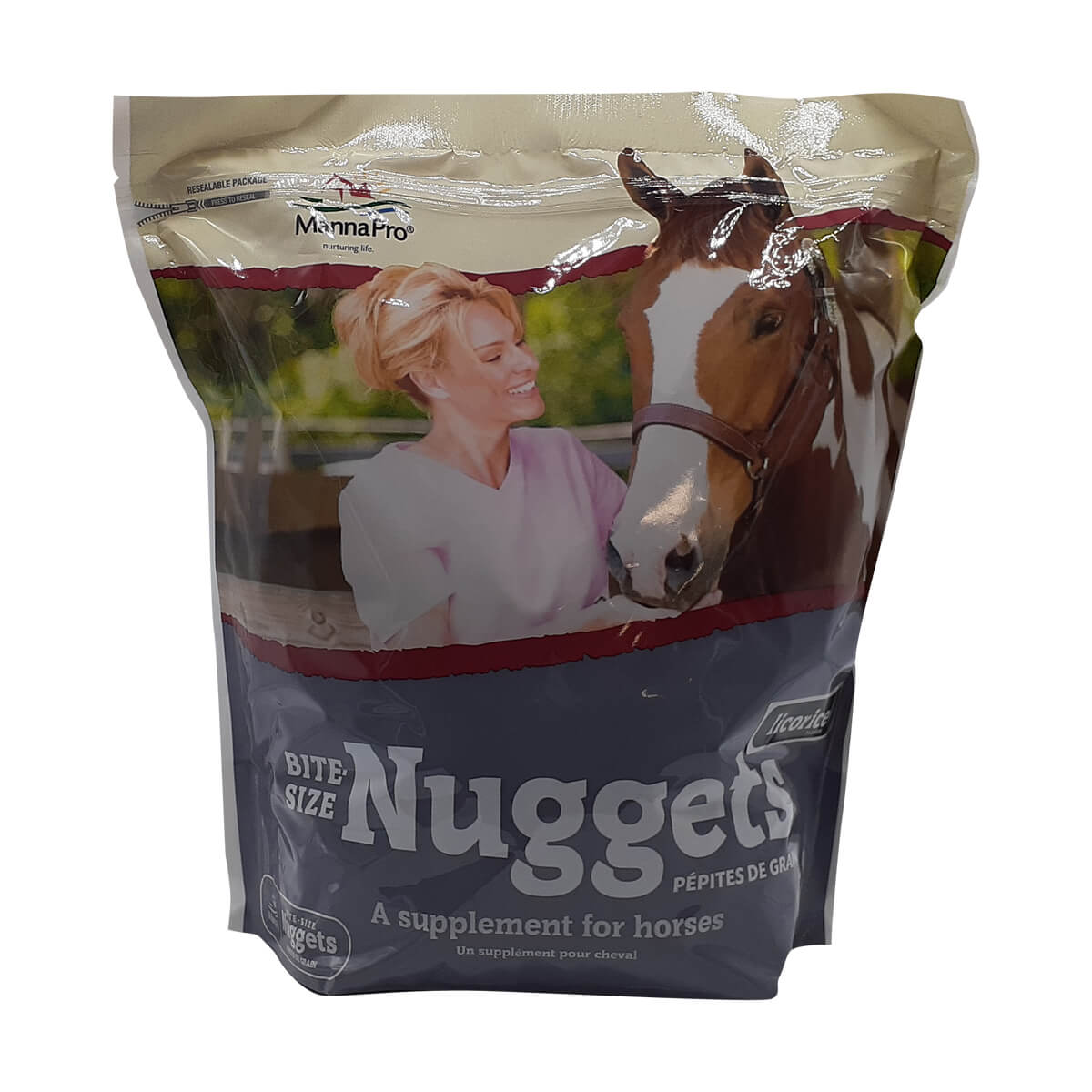 Bite-Sized Apple Nuggets for Horses - Licorice 5lb
