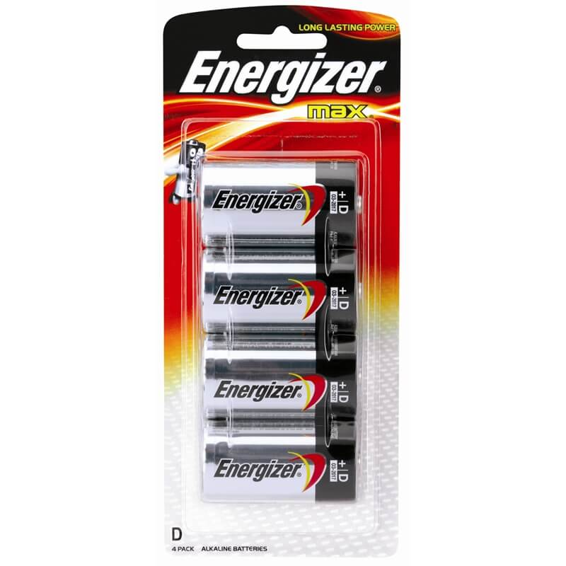 D Energizer Batteries  - 4-Pack