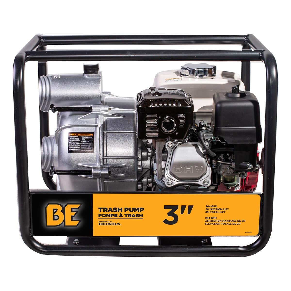 """Semi Trash Pump Honda Gx200 - 3"""""""