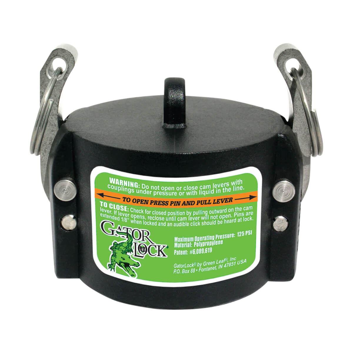 """Greenleaf Camlock Dust Cap for Male Adapter - 1-1/2"""""""