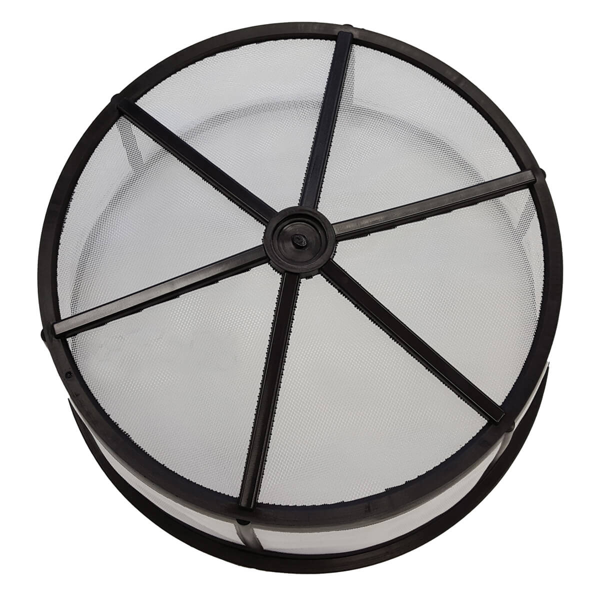 """Basket Strainer, Poly with Nylon Mesh  - 15"""""""