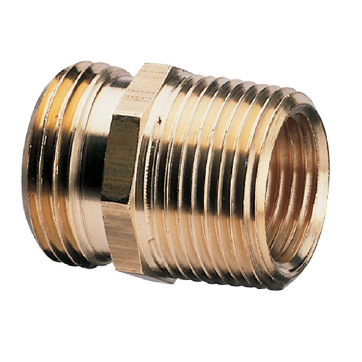 "3/4"" x 1/2"" Heavy Duty Model Double Male Connector"