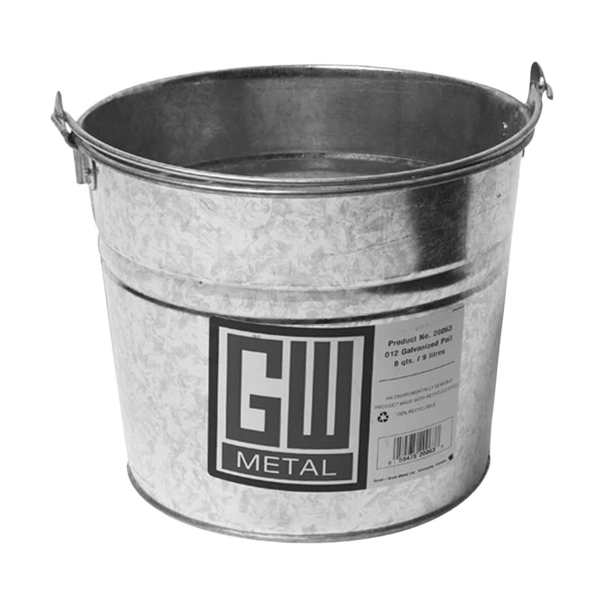 GW Metal Galvanized Pail - 8 qt