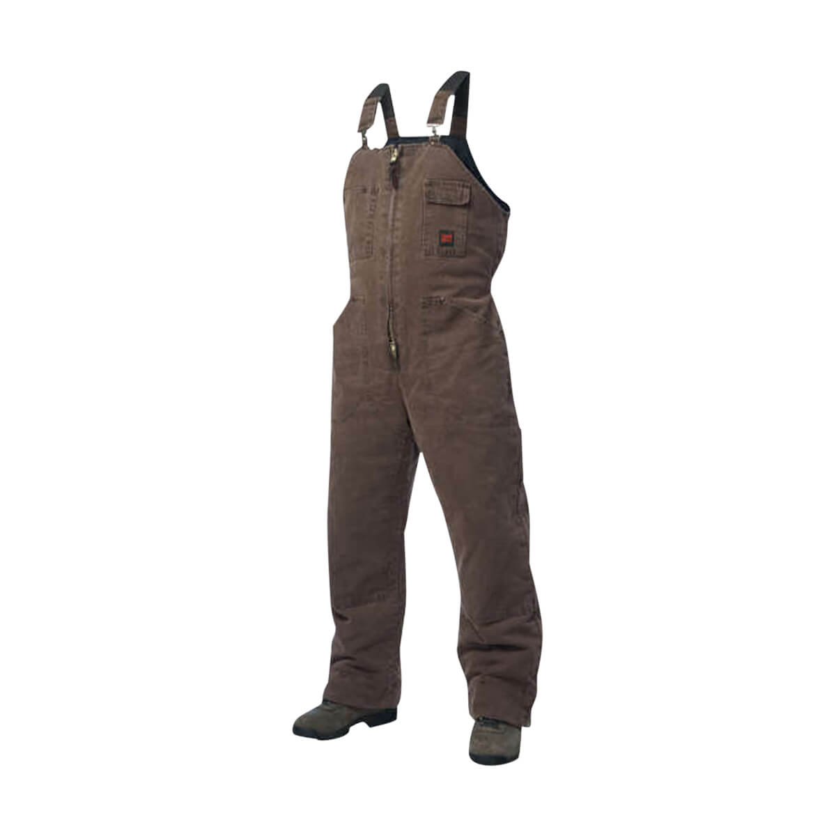 Tough Duck Washed Lined Bib Overall - Chestnut