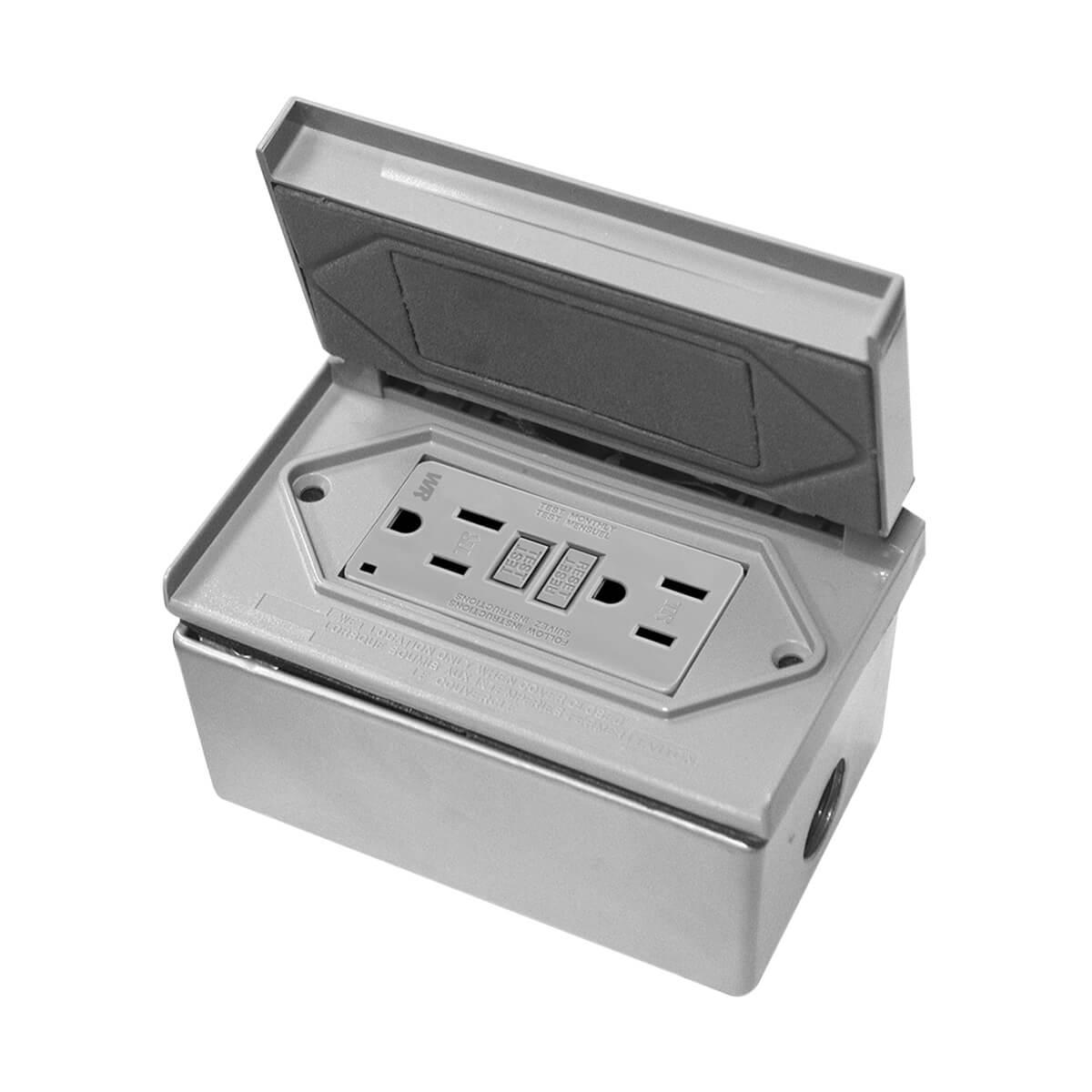 GFCI Duplex Receptacle Weatherproof Kit