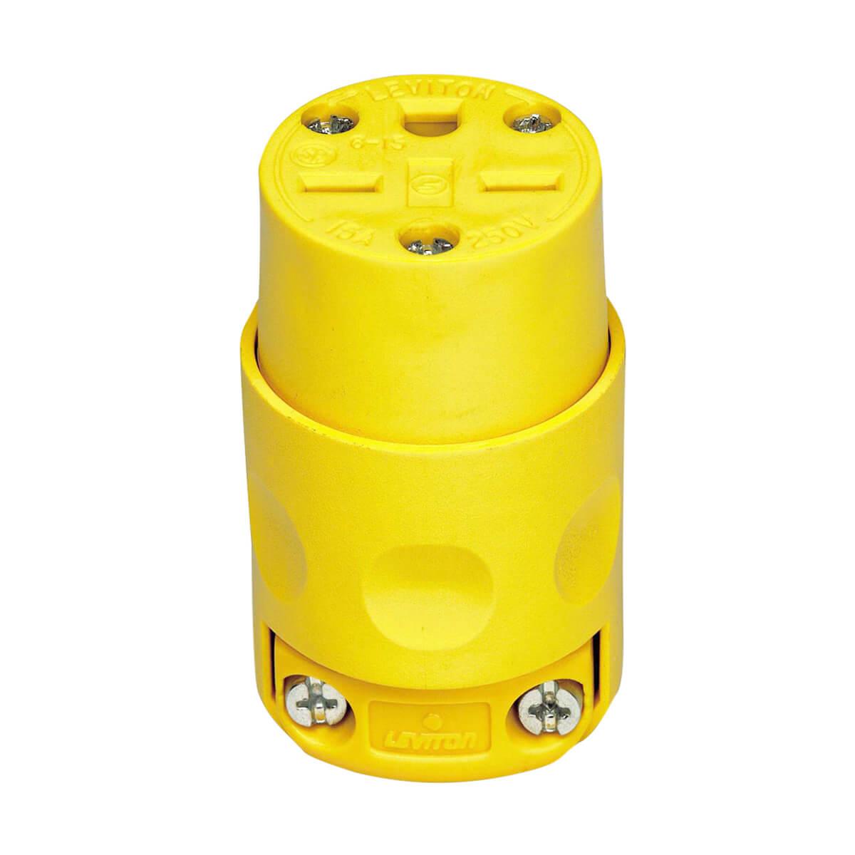 Yellow Vinyl Grounding Connector