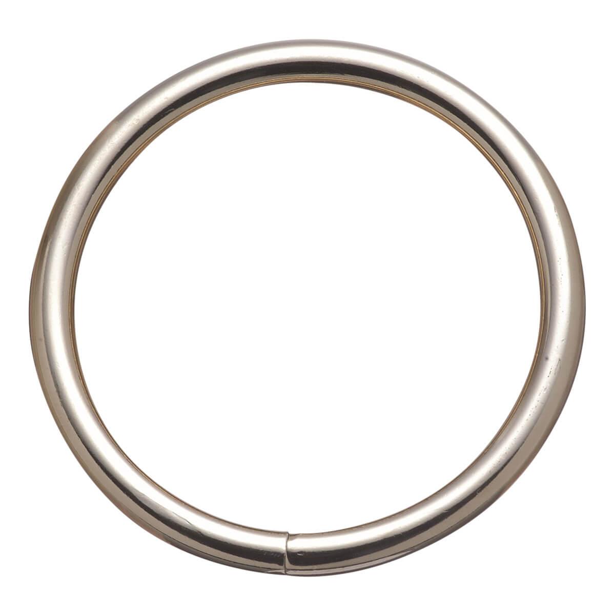 Harness Rings Welded - 1-1/2-in Nickel Plated