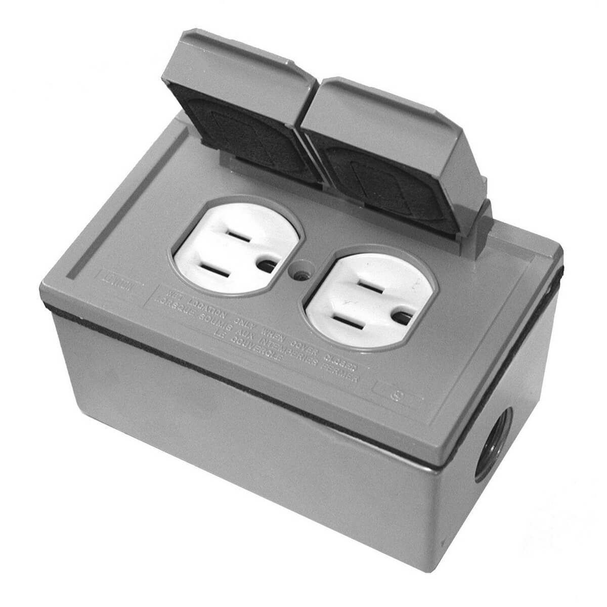Weather-Resistant Cover for Duplex Receptacle - 04976-768