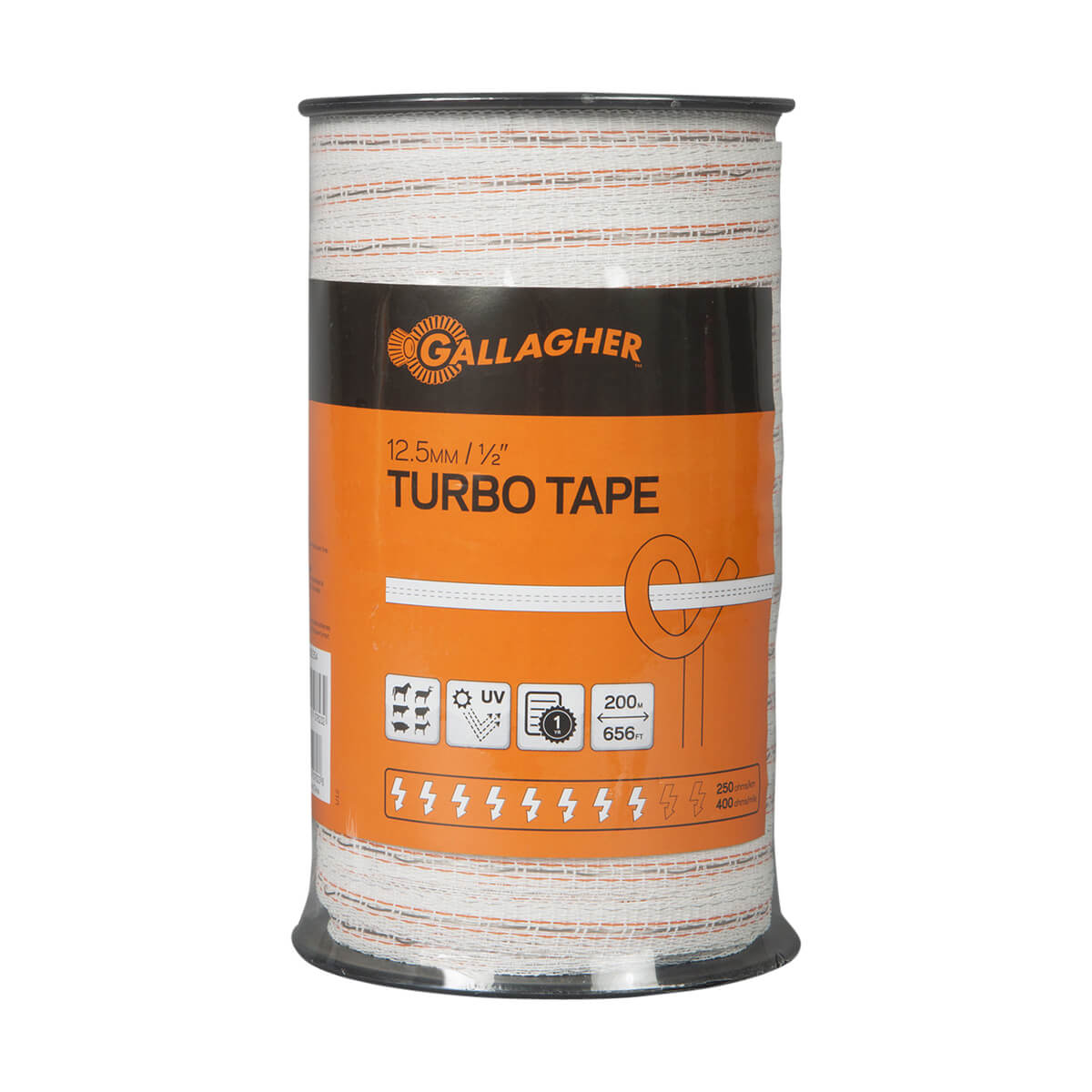 Gallagher 0.5-in Turbo Tape - 200 m