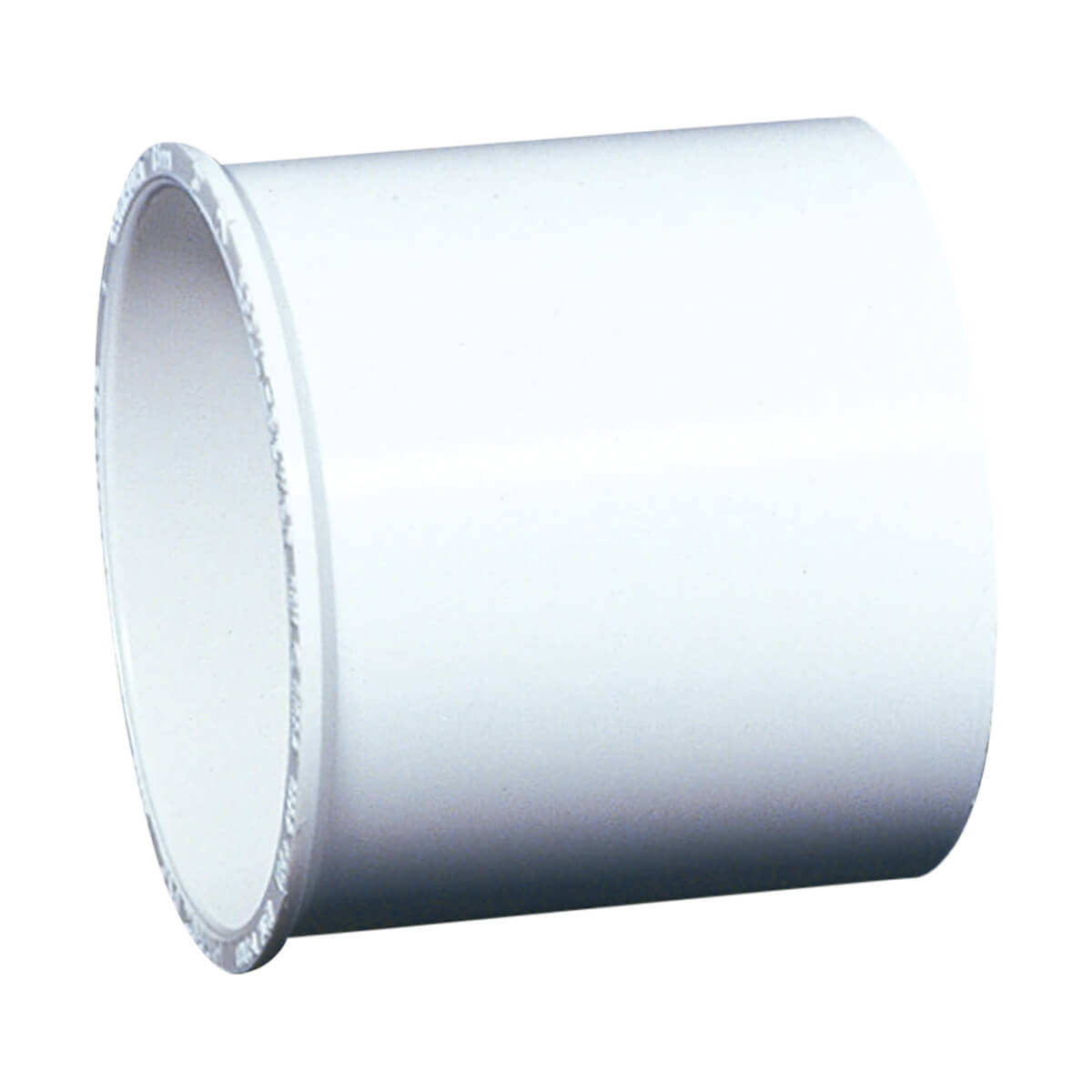 PVC-BDS Coupling with Pipe Stop - Hub - 3-in