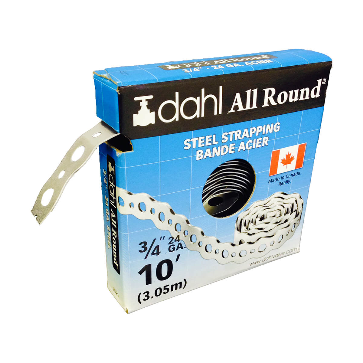"""Steel 24 Gauge All Round Strapping - 3/4"""" x 10'"""