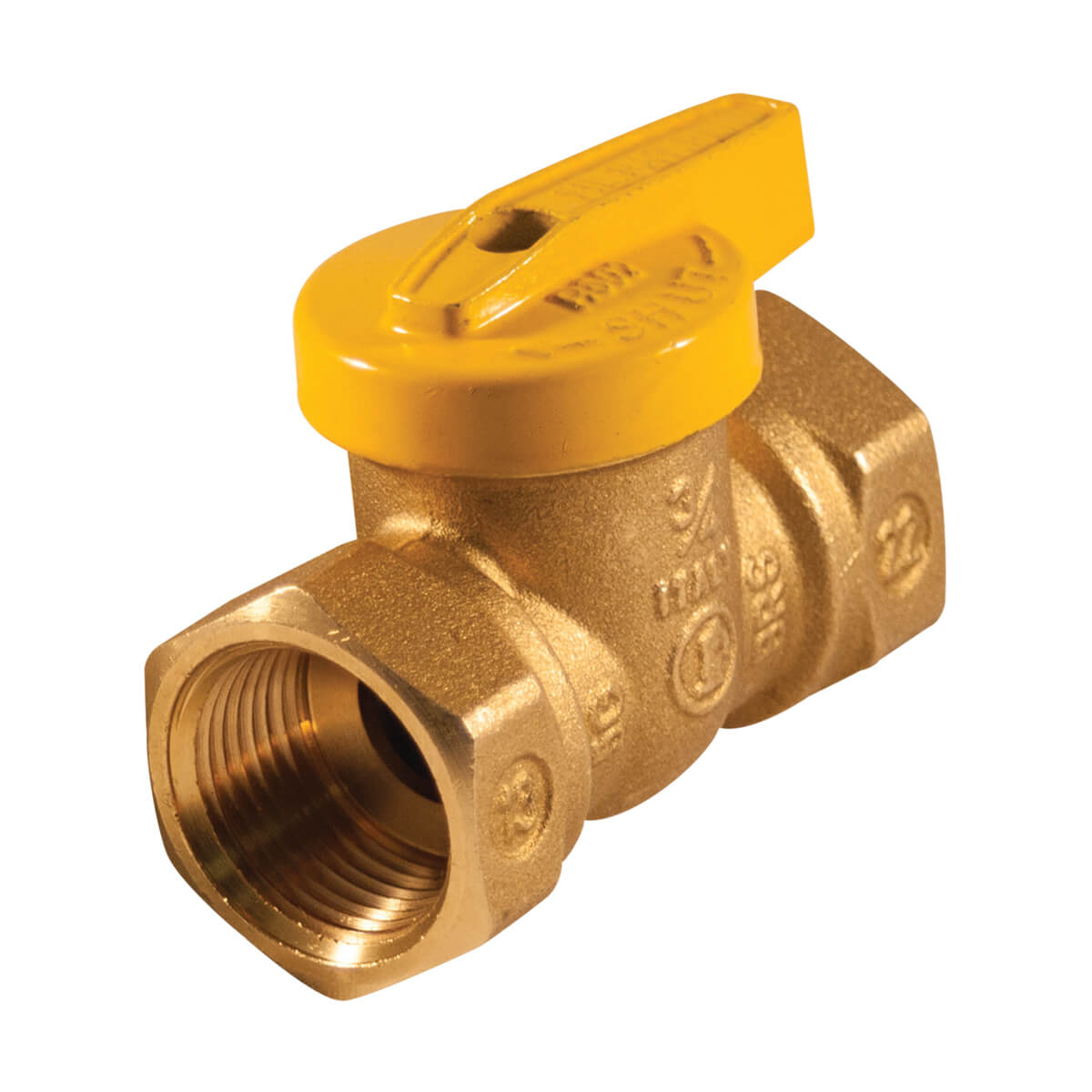 Gas Ball Valve 3/4-in Lever Handle One Piece Body