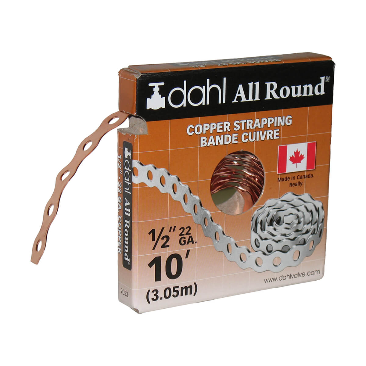 """Copper 22 Gauge All Round Strapping - 1/2"""" x 10'"""