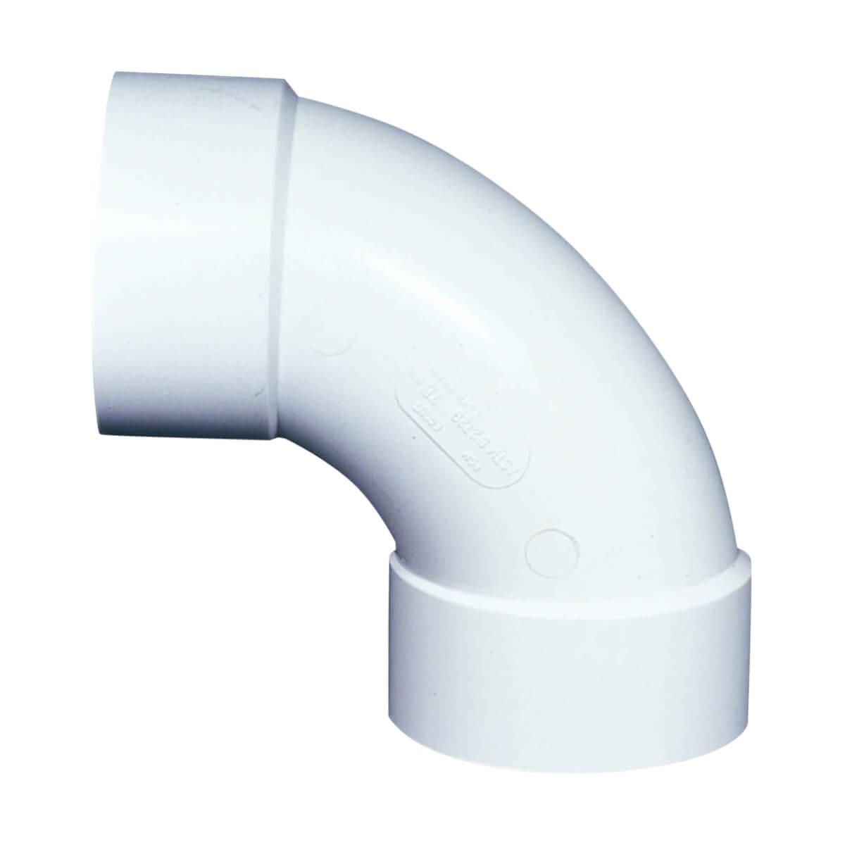 PVC-BDS 90° Elbow - Hub - 4-in