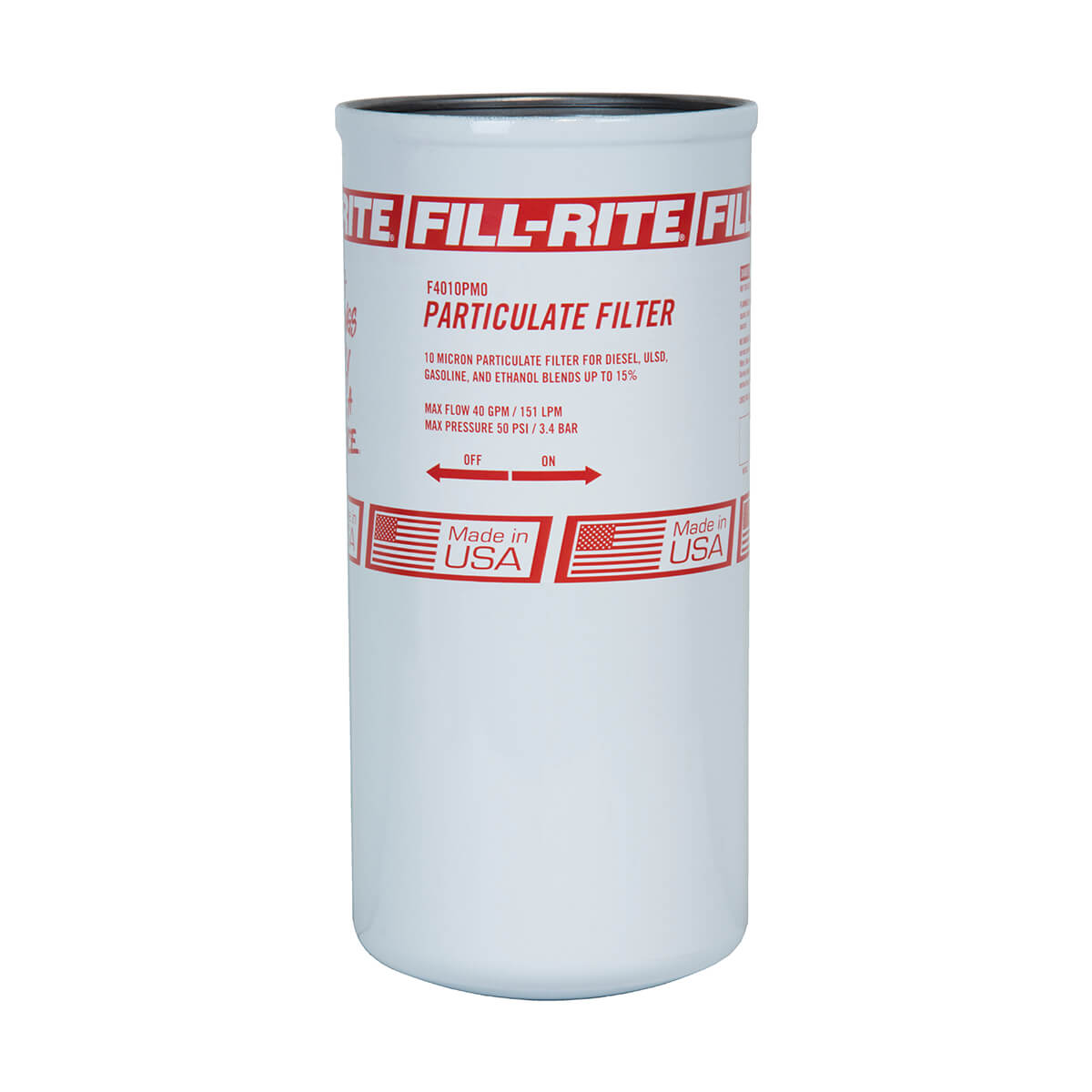 40 GPM Particulate Spin on Filter - 10 Micron