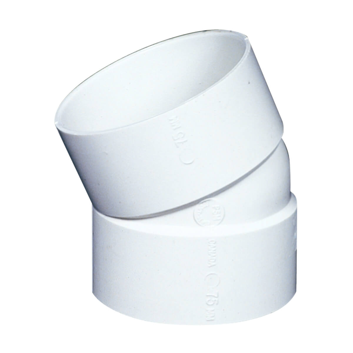 PVC-BDS 22½-in Elbow - Hub - 4-in